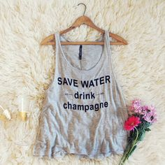 Drink Champagne Tank