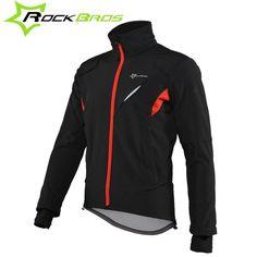 ROCKBROS Cycling Wear Winter Fleece Thermal Warm Bicycle Jersey Windproof Anti-sweat Rainproof Riding sportswear cycling jacket