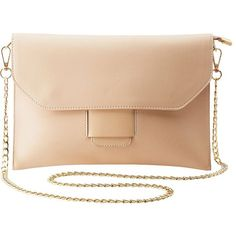Charlotte Russe Convertible Flap Tab Clutch (55 PEN) ❤ liked on Polyvore featuring bags, handbags, clutches, nude, beige clutches, faux leather purses, nude handbags, zip purse and vegan purses
