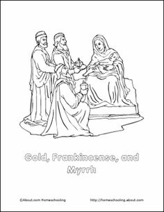 gold frankincense and myrrh coloring pages | Pinterest • The world's catalog of ideas