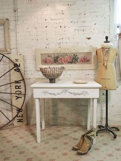 "Painted Cottage Chic Shabby Antique  French by paintedcottages, $275.00 MEASURES: 36"" L X X 26"" D X 32"" H"