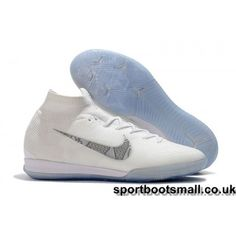 buy popular df7df c7558 Here Nike Kids Mercurial SuperflyX VI Elite IC Football Shoes -  White Metallic Cool Grey are on sale with more than discounts for we  provide more football ...