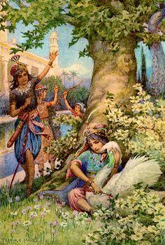 Галерея иллюстраций найдены в старых изданиях арабских сказок и других сказок с Востока