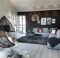 I would love to have that hanging chair.