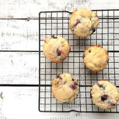 Baking Illustrated really delivers on these simple but delicious blueberry muffins. They feel like home from the first bite.