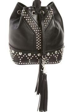 2d47c415dab0 Saint Laurent Small Y Stud Calfskin Bucket Bag