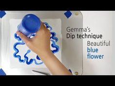 (145) Dip technique _ Beautiful blue flower _ Two canvases _ No silicone _ Designer Gemma77 - YouTube