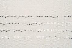 "Robin Johnston, ""Morse Messages, detail"" August 26- Sept. 1, 2012."