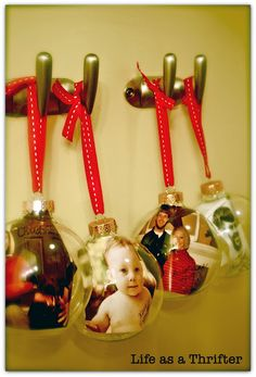 Picture inside ornament. Add personalization...would be great for a couple's first Christmas!