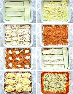 This Zucchini Lasagna is low fat gluten-free Keto friendly ridiculously delicious and only 368 calories This lasagna uses zucchini in place of pasta thereby reducing calories Guilt free lasagna zucchinilasagna lowcarb keto Healthy Dinner Recipes, Low Carb Recipes, Diet Recipes, Vegetarian Recipes, Cooking Recipes, Thai Recipes, Ground Beef Keto Recipes, Cooking Gadgets, Juice Recipes