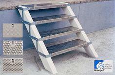 Treppenstufe mit Bügel
