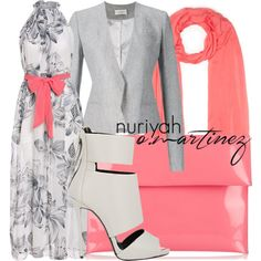 Hijab Outfit by Nuriyah O. Martinez      White summer dress €16-shein.com    Thierry Mugler blazer €1.840-farfetch.com    Giuseppe Zanotti bootie €485-barneyswarehouse.com    Marni red purse €220-theoutnet.com    Jigsaw lightweight scarve €46-jigsaw-online.com