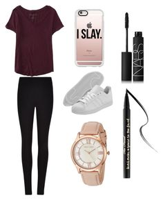 """""""Sans titre #1499"""" by merveille67120 ❤ liked on Polyvore featuring Aéropostale, Winser London, adidas Originals, Casetify, Anne Klein, NARS Cosmetics and Too Faced Cosmetics"""