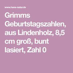 Grimms Geburtstagszahlen, aus Lindenholz, 8,5 cm groß, bunt lasiert, Zahl 0