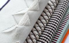 A/W Flawless: men's knitwear Weaving Textiles, Textile Fabrics, Fabric Textures, Textures Patterns, Textile Design, Fabric Design, Knitwear Fashion, Men's Knitwear, Knitting Stitches