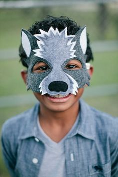 NEW Wolf Mask & Tail CHILD by oppositeoffar on Etsy