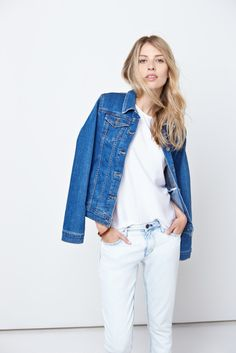 Layer on the denim for a dimensional multi-tone look.