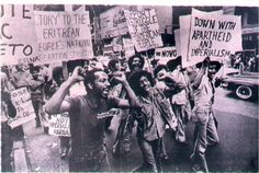 Eritrean Protestors. I wonder where this took place?