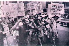 Eritrean Protestors. I wonder where this took place?