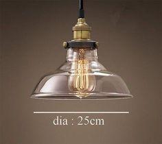 Moderno Vintage Industrial Retro Loft Vidrio Lampara de Techo Colgante la Luz                                                                                                                                                                                 Más