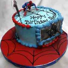 Amazing Image of Spider Man Birthday Cakes . Spider Man Birthday Cakes Spiderman Cakes Decoration Ideas Little Birthday Cakes Spiderman Birthday Cake, Birthday Cakes For Men, Superhero Cake, Birthday Parties, Birthday Ideas, Spiderman Pictures, Birthday Cake Pictures, Cake Images, Cute Cakes