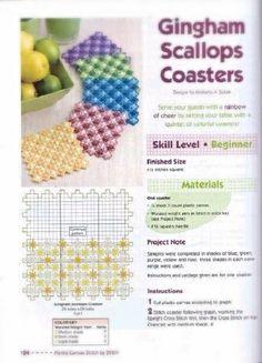 GINGHAM SCALLOPS Coasters ( 1/3 )