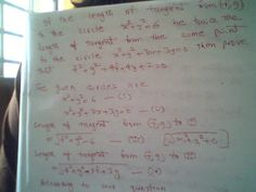Maths: If the length of tangent from one circle is twice ...