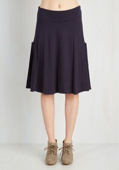 At the Racquet of Dawn Skirt in Navy. After rising with the sun, you scored a front-row seat at today's tennis tournament, dressed fabulously in this navy-blue skirt! #blue #modcloth