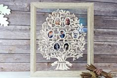 Family Tree Picture Frame | Personalised papercut gift no one else has