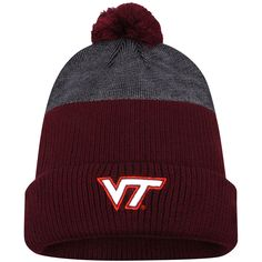 Virginia Tech Hokies Nike New Day Cuffed Knit Hat with Pom - Maroon - $31.99