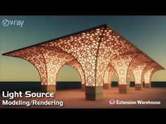Light source - Modeling/Rendering | SketchUp | V Ray - YouTube