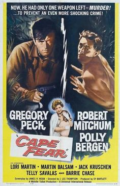 North Carolina movie. Cape Fear;1962. Robert Mitchum will scare the shit out of you - as would Robert DeNiro in the remake.