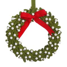 Felt Mistletoe Wreat