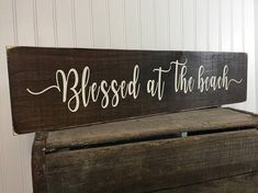 Wood beach sign, coastal decor, beach blessing, nautical decor, beach house ideas, beach sayings, ocean decor, rustic beach sign, beach house gift *What a simplistic and pretty accent for your coastal home or getaway place! *This beautiful beach blessing sign also makes a