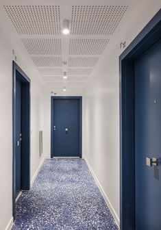 this residential complex in marseille consists of terraced layers, by pietriarchitectes Coridor Design, Hall Design, Hotel Hallway, Hotel Corridor, Architecture Building Design, Interior Architecture, Corridor Lighting, Appartement Design, Student House