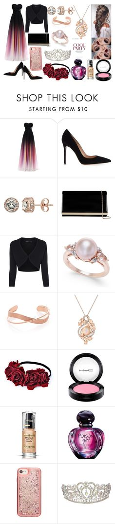 """""""Prom Queen!! <3"""" by hayley11123 ❤ liked on Polyvore featuring Gianvito Rossi, Accessorize, LE VIAN, MAC Cosmetics, Max Factor, Christian Dior and ban.do"""