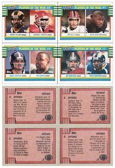 1990 Topps A-D Box Bottom Uncut Panel (w/ Henry Ellard, Derrick Thomas, Jim Kelly, David Grayson, Bubby Brister, Tim Harris, Joe Montana, Vince Newsome) (No Disclaimer)
