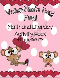 Valentine's Day Fun! Math & Literacy Activity Pack from Growing Lifelong Learners on TeachersNotebook.com (41 pages)  - Valentine's Day Fun! {Math & Literacy Activity Pack}
