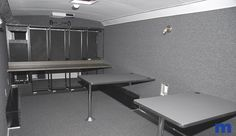 Interior of Custom Fabricated #Broadcast Trailer by #Markertek