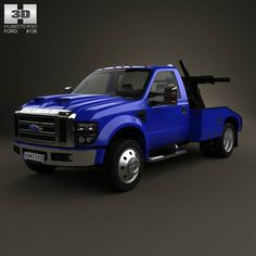 Ford Super Duty F-550 Tow Truck with HQ interior 2005 3d model from humster3d.com. Price: $125