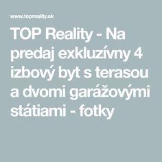 TOP Reality - Na predaj exkluzívny 4 izbový byt s terasou a dvomi garážovými státiami - fotky Dinner