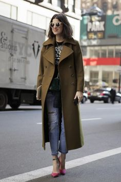 Street Style at New York Fashion Week / Photo by Anthea Simms