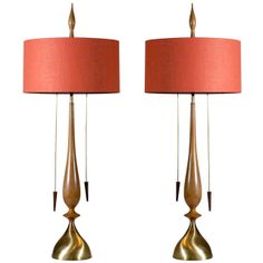 A Monumental Pair of Modern Lamps by Frederick Cooper | From a unique collection of antique and modern table lamps at http://www.1stdibs.com/furniture/lighting/table-lamps/
