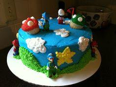 C & G Cakes: Mario Cake & Mushroom Cupcakes