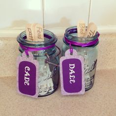 DIY Chore chart for multiple kids. Chore system. When they finish the chore they flip that chores stick up side down. Kids chores. Fun Chore charts. Mason jars and Chore sticks. Chore lists. Organized and the kids think it's fun