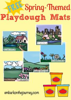 Kids will love practicing their counting skills with these free springtime playdough mats! | embarkonthejourney.com