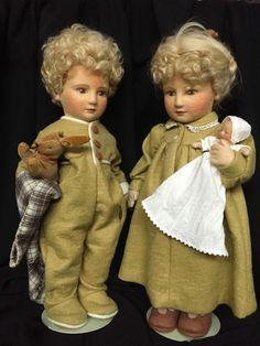"R. John Wright Dolls ""Michael"" & ""Lindsay"" Babes in Toyland Series II MIB"
