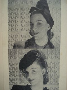 how to make Hats From The 1940S | 1940s SAUCY HATS PATTERN GREAT STYLES