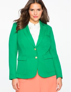 View our Soft Suiting Blazer and shop our selection of designer women's plus size Coats + Jackets, clothing and fashionable accessories. Green Blazer, Plus Size Coats, Plus Size Designers, Blazers For Women, Ladies Dress Design, Blazer Suit, Plus Size Outfits, Plus Size Fashion, What To Wear