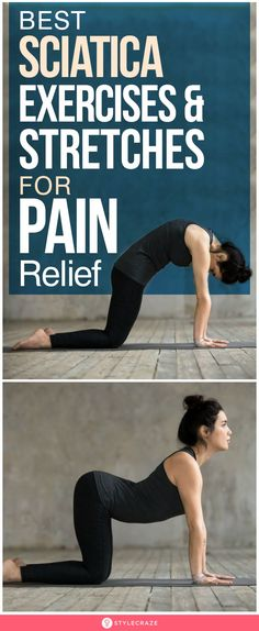 12 best sciatica exercises and stretches for pain relief yoga poses for lower back pain! do the exercises as shown in the picture for the exercises pain picture poses shown yoga Sciatic Nerve Exercises, Sciatic Nerve Relief, Hip Pain Relief, Lower Back Pain Relief, Sciatic Pain, Knee Pain Exercises, Yoga For Sciatica, Sciatica Stretches, Best Stretches